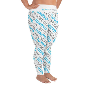 Luxevo Vacations Logo Leggings (Plus Size)