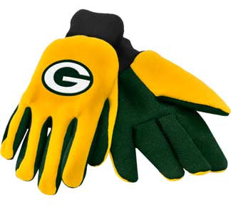 Youth football Packers gloves