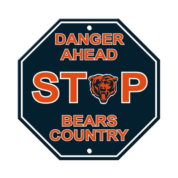 Bears Team Stop Sign