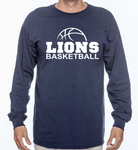 custom long sleeve basketball t-shirt