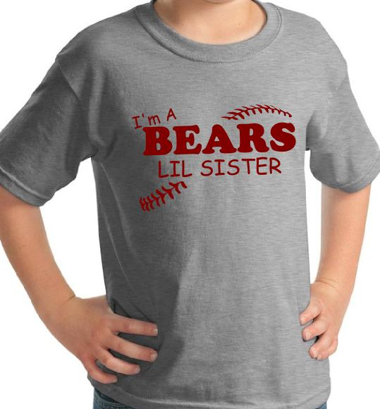 Baseball Team Lil Brother/Sister Short Sleeve Custom Youth Children's T-shirt TF0201