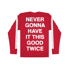 Load image into Gallery viewer, TGL NEVER GONNA LYRIC LS TEE