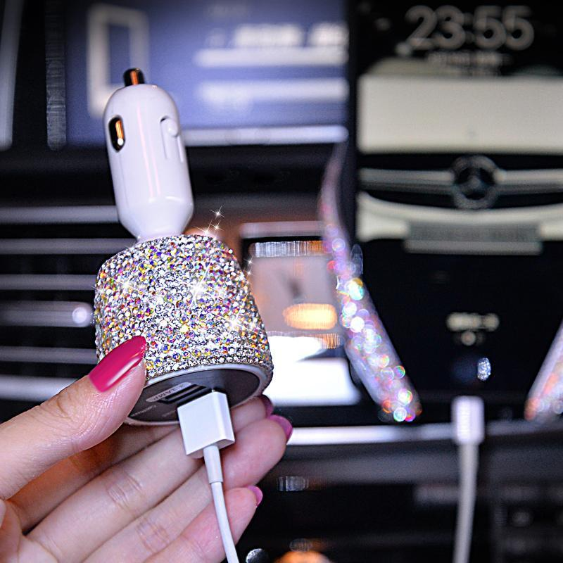 Bling Dual Port USB Quick Car Charge