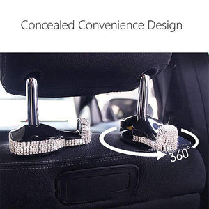Bling Car Vehicle Back Seat Hidden Hooks