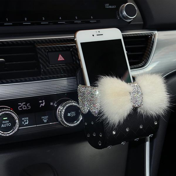 Mutrxshop Bling Car Cellphone Storage Box