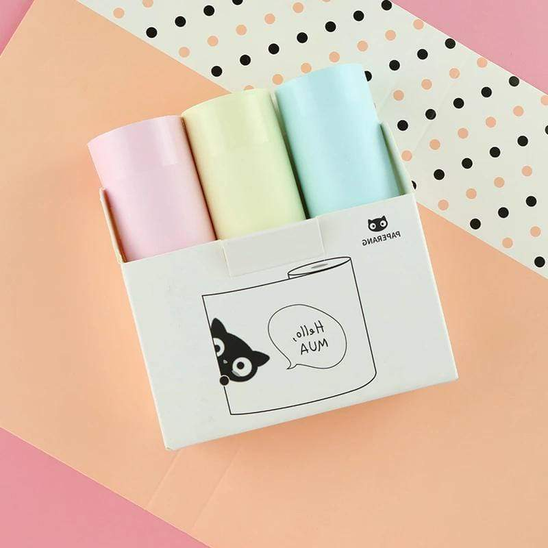Paperang Printer Paperoll Colors Paper 3pcs Paperangprint
