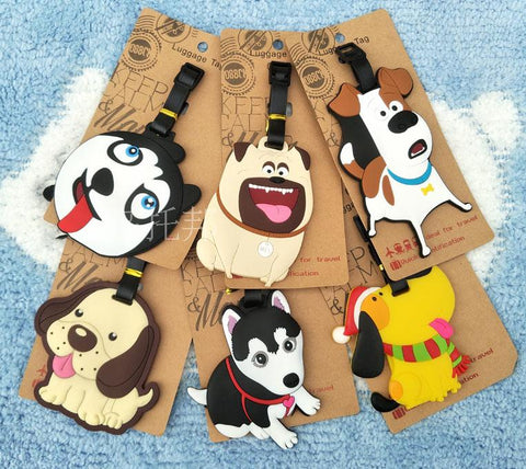 Cute Dog Husky Christmas Doggie Luggage Bag Identification Accessories - Mr.Canadian.Traveler