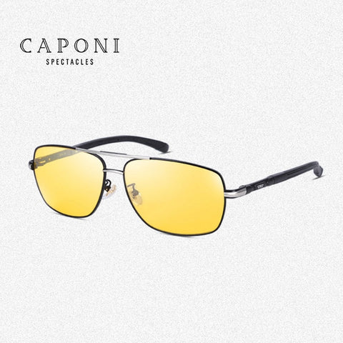 Caponi Men Photochromic Lens For Day&Night Polarized Drving Sunglasses BSYS8724 - Mr.Canadian.Traveler
