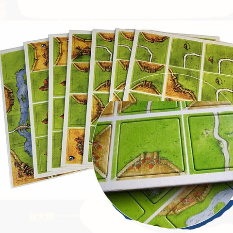 """CARCASSONNE"" This 5 in 1 Or 2 in 1 Tile Game Is For 2-5 Family Or Friends To Play - Mr.Canadian.Traveler"