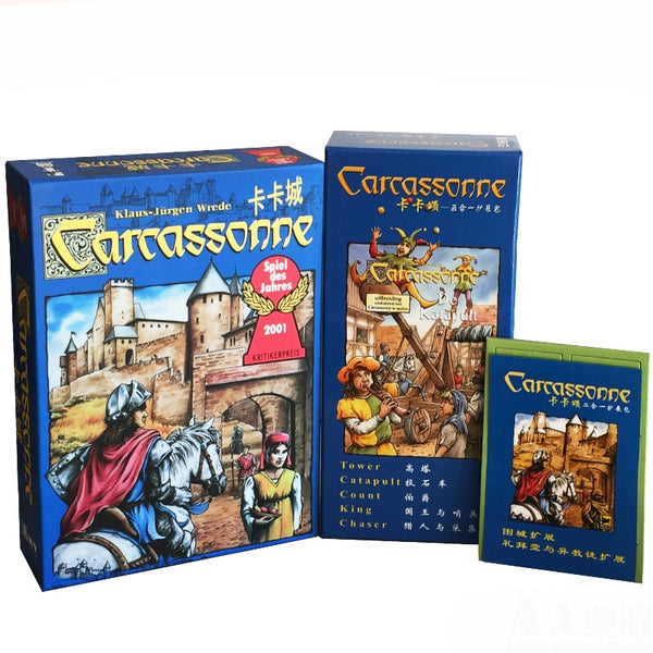"""CARCASSONNE"" This 5 in 1 Or 2 in 1 Tile Game Is For 2-5 Family Or Friends To Play"