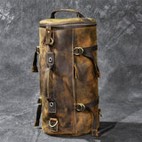 Men's Mountaineering Genuine Leather Travel Backpack