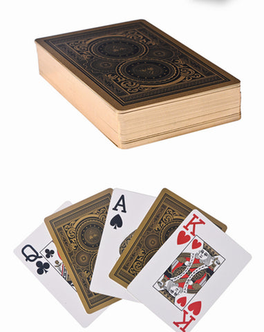 Plastic Poker Gold Edge Texas Holdem Playing Cards - Mr.Canadian.Traveler