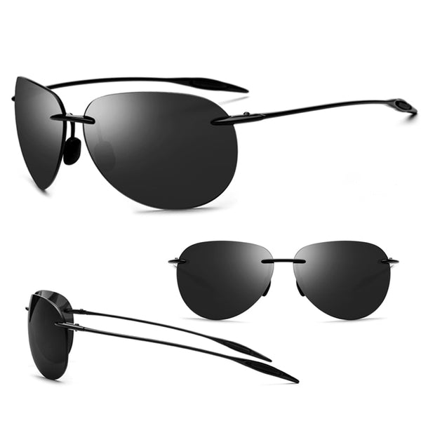 Ultralight Men's Rimless Sunglasses