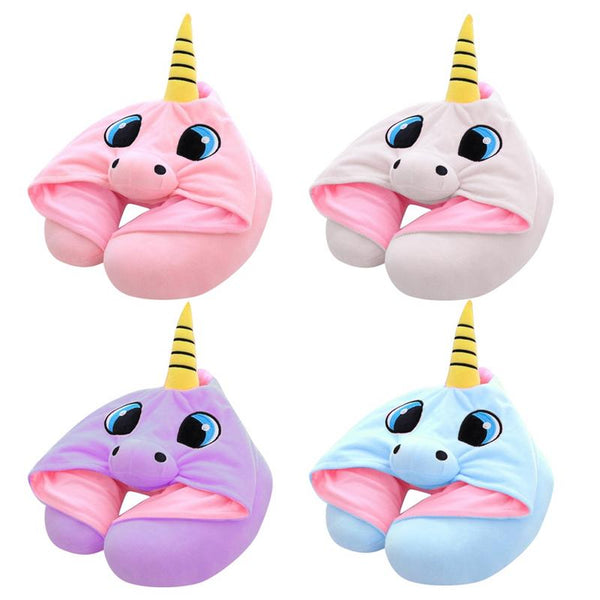 Unicorn Stuffed Animal Neck Pillow All Type Of Travel