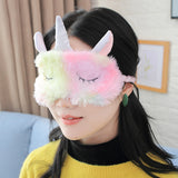 Rainbow Unicorn Eye Mask Suitable for Family Travel