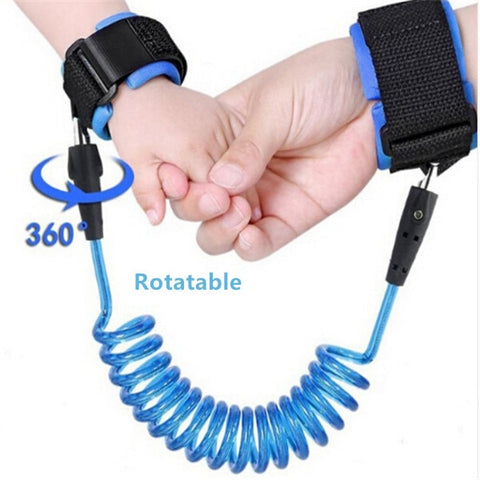 1.5-2.5m Kids Safety Harness Adjustable Children Leash Anti-lost Wrist Link Traction Rope Baby Walker Wristband - Mr.Canadian.Traveler