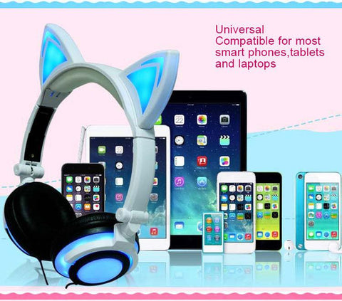 Stereo Cute Cat Ear Headphones - Mr.Canadian.Traveler