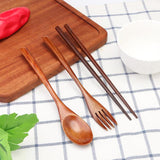 Eco - Friendly Wood Cutlery Set For All Your Travels