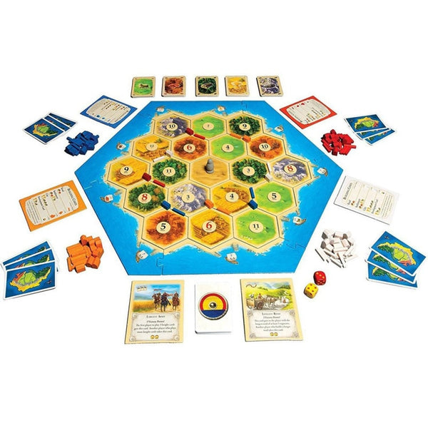 """SETTLERS OF CATAN"" Family Board Game Main Game And Expansions"