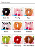 Soft Kids Pillow Multi-Animals Design Plush Super Soft Kids Headrest for 0-4 Years