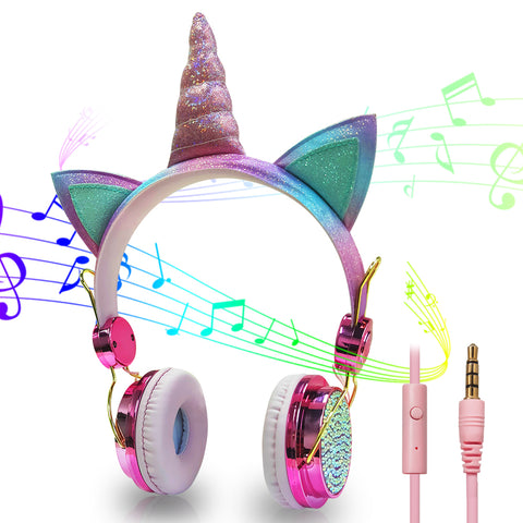 Cute Unicorn Wired Headphone For Girls - Mr.Canadian.Traveler