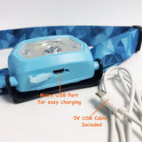 USB Rechargeable LED Head Lamp for Kids