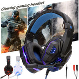 Stereo Gaming Headphones With Light Mic Earphones