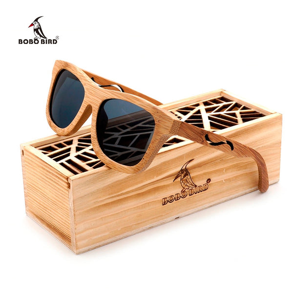Handmade Unisex Bamboo Mirrored Sunglasses