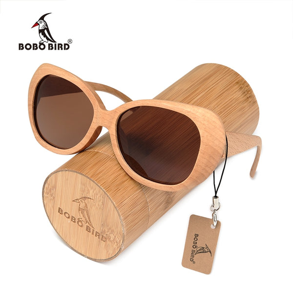 Handmade Unisex Polarized Natural Bamboo Sunglasses