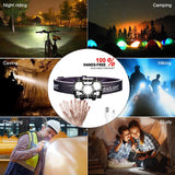 USB Rechargeable Waterproof Ultra Bright LED Motion Sensor Headlamp
