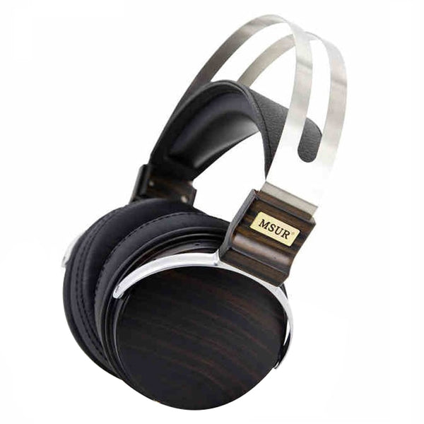 Wooden Metal Hifi DJ Headphone Headset