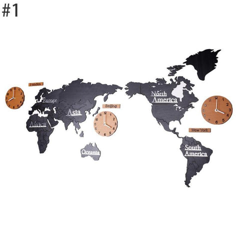 The World Map Wall Clocks - Mr.Canadian.Traveler