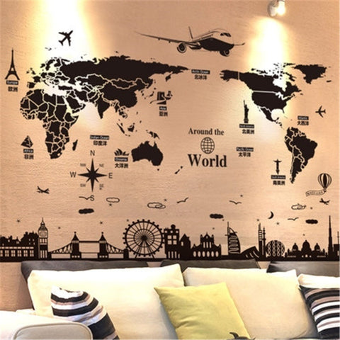 Creative World Travel World Map Sticker HOT SALE - Mr.Canadian.Traveler