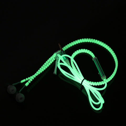 Glow In The Dark Earphone With Mic - Mr.Canadian.Traveler