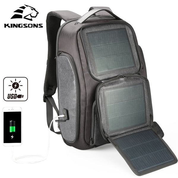 solar energy generation backpack Phone fast charging 2hrs USB interface 15.6'' Brand Laptop notebook bag travel Business KS3181W