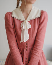 Load image into Gallery viewer, Coral pink linen dress