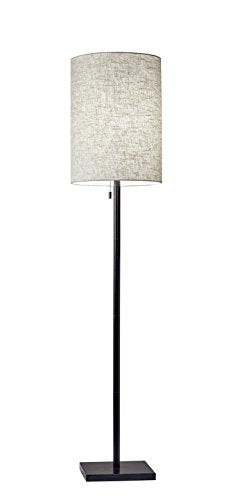 Adesso 1547-26 Liam Floor, Office, Waiting Room, Dorm, Cool, Led Lamp, Dark Bronze