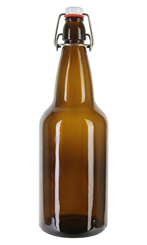 500 Ml (16 Oz) Amber Flip-Cap Bo