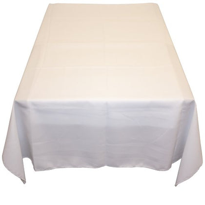 Table In A Bag Wht6060 Square Polyester Tablecloth, 60-Inch By 60-Inch, White