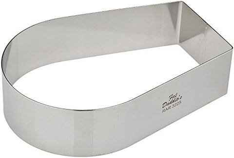 Fat Daddio'S Stainless Steel Arch Cake And Pastry Ring, 7.625 X 5.25 X 2