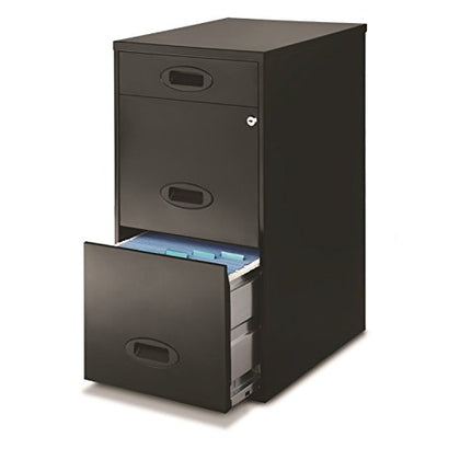 Hirsh Space Solutions 18  Deep 3 Drawer File Cabinet In Black