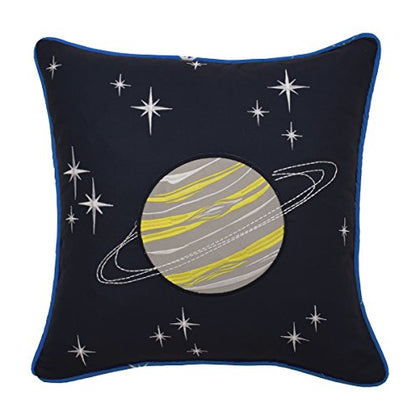 Waverly Kids Space Adventure Embroidered Decorative Accessory Pillow 15  X 15  Multicolor