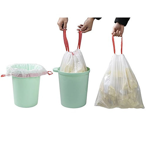 Doryh 1.2 Gallon Drawstring Trash Bags, 2 Rolls/120 Counts
