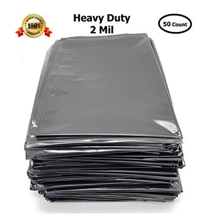 Black Trash Bag 55-60 Gallon 38 X 58 X 2-3Mil, 50 Bags (38 X 58 X 2Mil)
