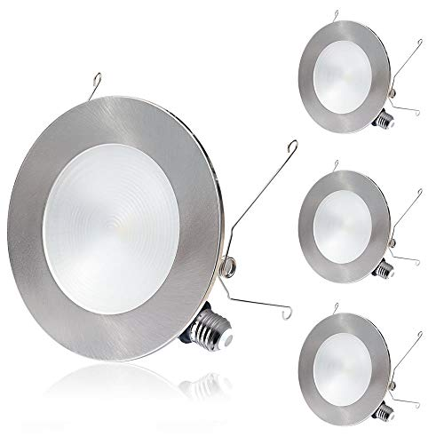 innovative design 804cc e4cb4 6 Led Recessed Lighting, 2 In 1 Trim Color Options, Tunable Warm White, 12W  Dimmable Led Recessed Downlights, Slim Led Ceiling Lights, Retrofit Led ...