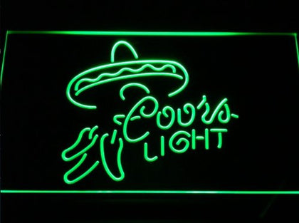 Coors Lite Mexican Beer Bar Neon Light Sign