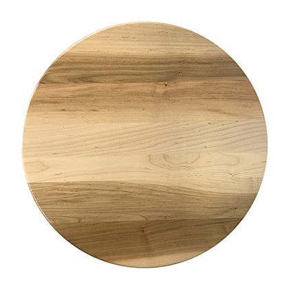 Round Lazy Susan 14  Made Of Brown Maple Wood With A Natural Stain