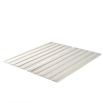 Zinus Solid Wood Bed Support Slats/Fabric-Covered/Bunkie Board, Queen