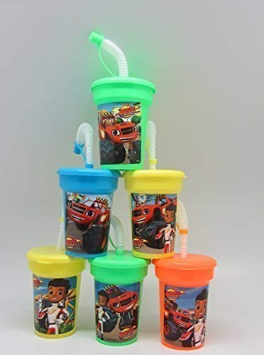 One Stop 6 Blaze And The Monster Machines Stickers Birthday Sipper Cups With Lids Party Favor Cups