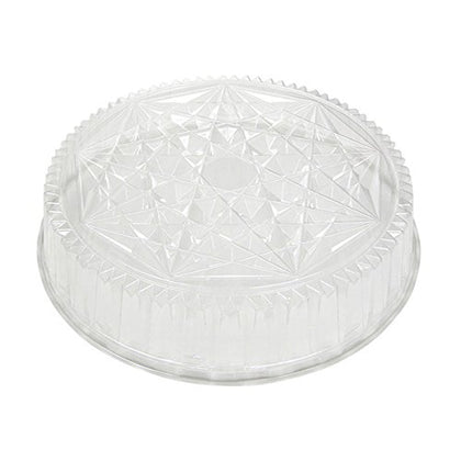 Pactiv P4418 Round Caterware Dome-Style Food Container Lids, 1 Compartment, Clear, 18  Diameter (Case Of 50)